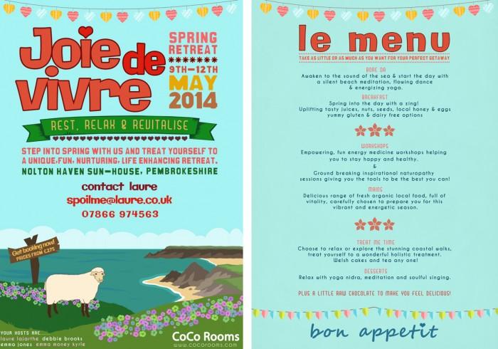 joie de vivre wales poster doubled small